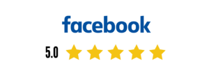 Facebook logo with stars